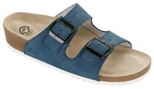Fussbett-Sandalen hoch, Nubuk jeansblau