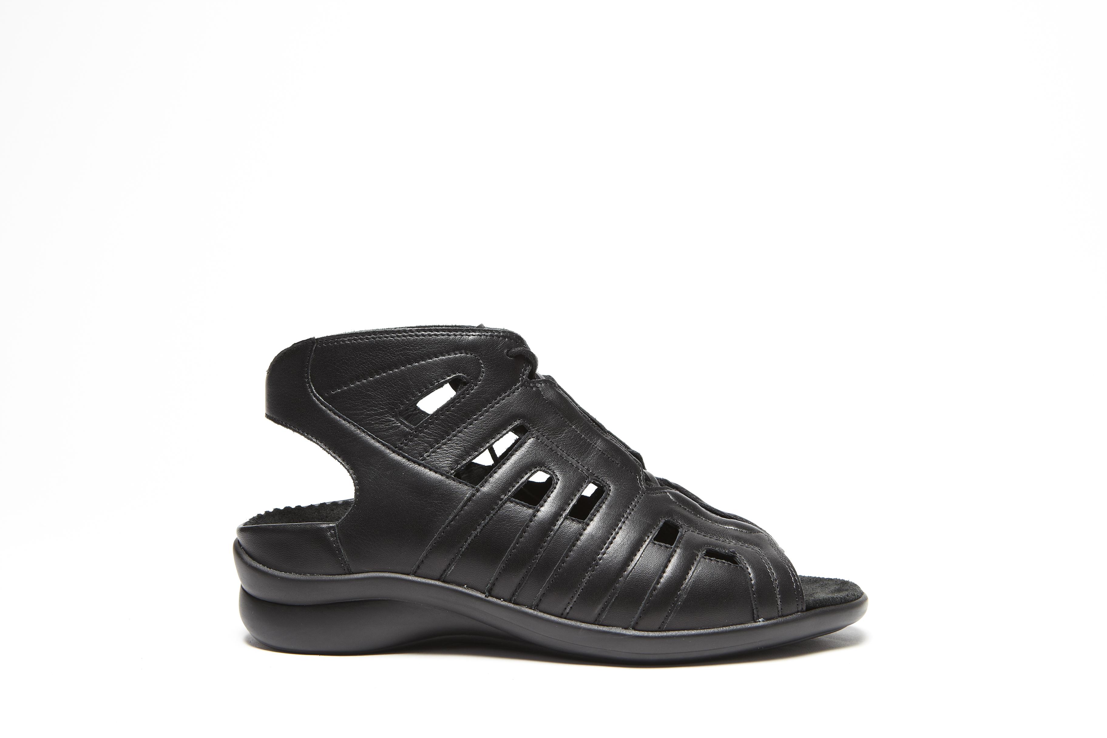 Durea  Sandalen, G, schwarz Delfi-Kalb 1235