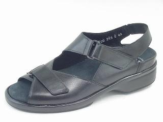 Durea Greenway Sandaletten E, Kalbleder schwarz