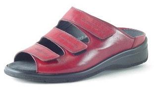 Durea Greenway Sandaletten G, Kalbleder kirsch