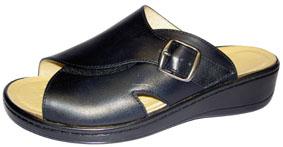 Sanastico Sandalen mit Wechselfussbett, Leder schwarz
