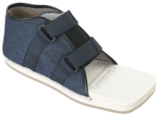 Hallux-Schuh mit Velcroverschluss, Kinder, Jeansstoff blau, mit Lasche MiGeL23.01.10.00.1