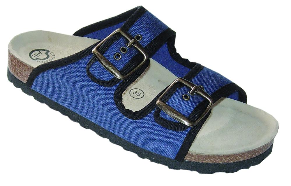 Fussbett-Sandalen, Jeans